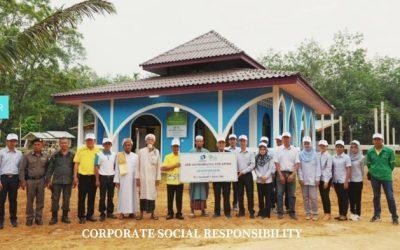 ส่งมอบอาคารละหมาดให้กับชุมชนในพื้นที่ อ.เบตง จ.ยะลา ตามโครงการเนาวรัตน์ ร่วมสร้างด้วยใจ ส่งมอบให้ด้วยรัก