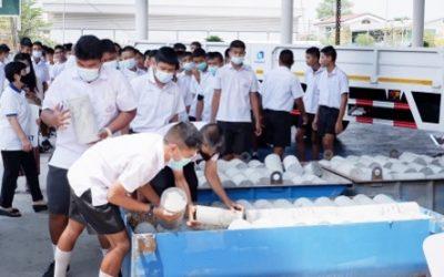 กิจกรรมมอบลูกปูนให้แก่ โรงเรียนวัดราษฎร์บูรณะ เพื่อปรับปรุงภูมิทัศน์รอบโรงเรียน
